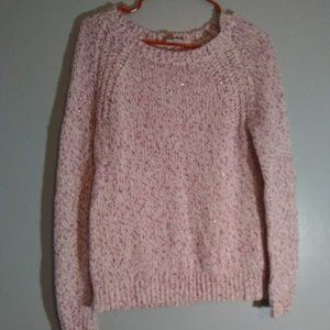 St. John's Bay pink and white Sweater